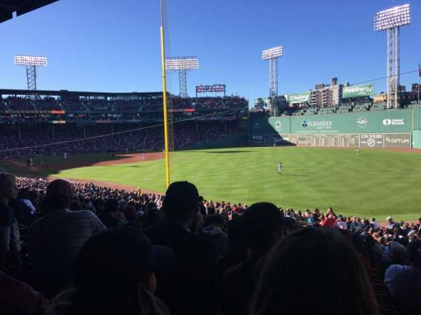 Fenway Park, section: Grandstand 6, row: 4, seat: 11