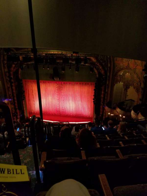 New Amsterdam Theatre, section: Balcony R, row: J, seat: 10