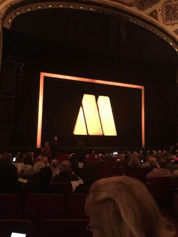 Cadillac Palace Theater, section: Orchestra L, row: O, seat: 5