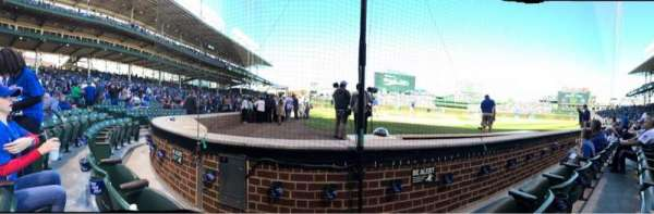 Wrigley Field, section: AA19, row: 2, seat: 4