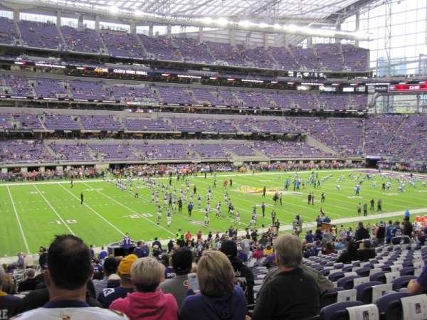 U.S. Bank Stadium, section: 112, row: 29, seat: 21