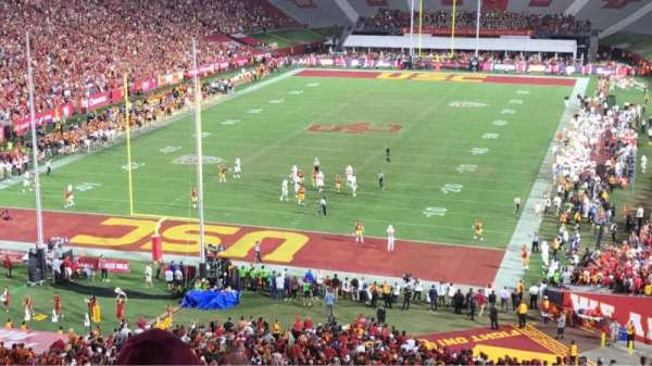 Los Angeles Memorial Coliseum, section: 13, row: 69