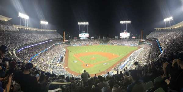 Dodger Stadium, section: 4RS, seat: 1