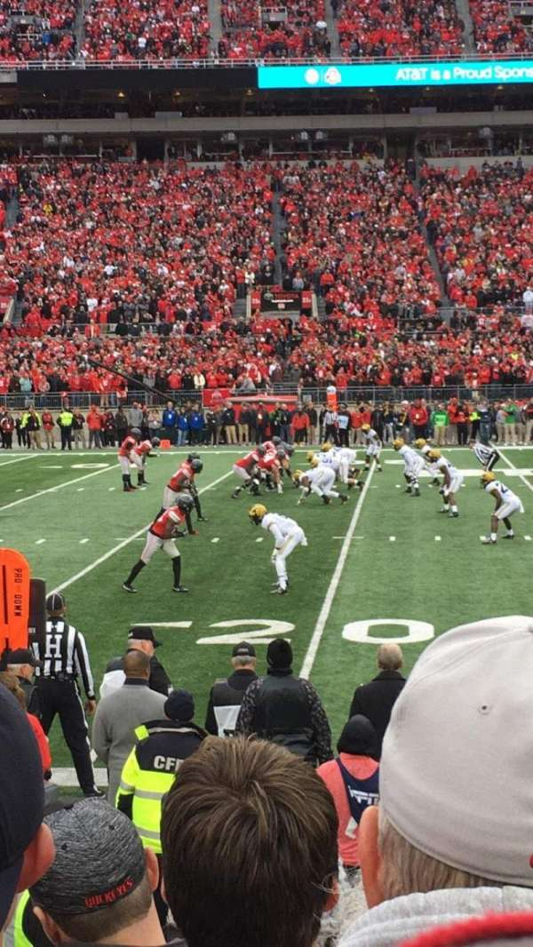 Ohio Stadium, section: 24aa, row: 5, seat: 21