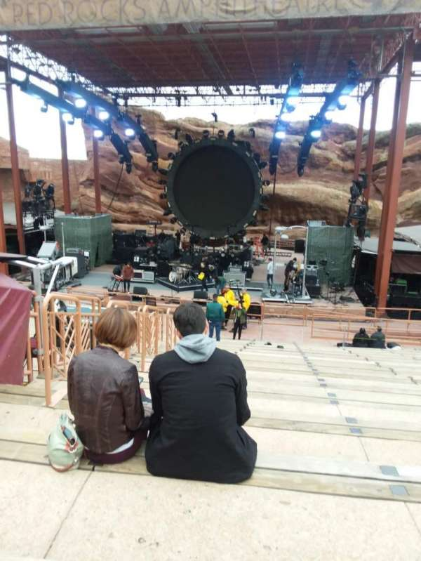 Red Rocks Amphitheatre, row: 15, seat: 46