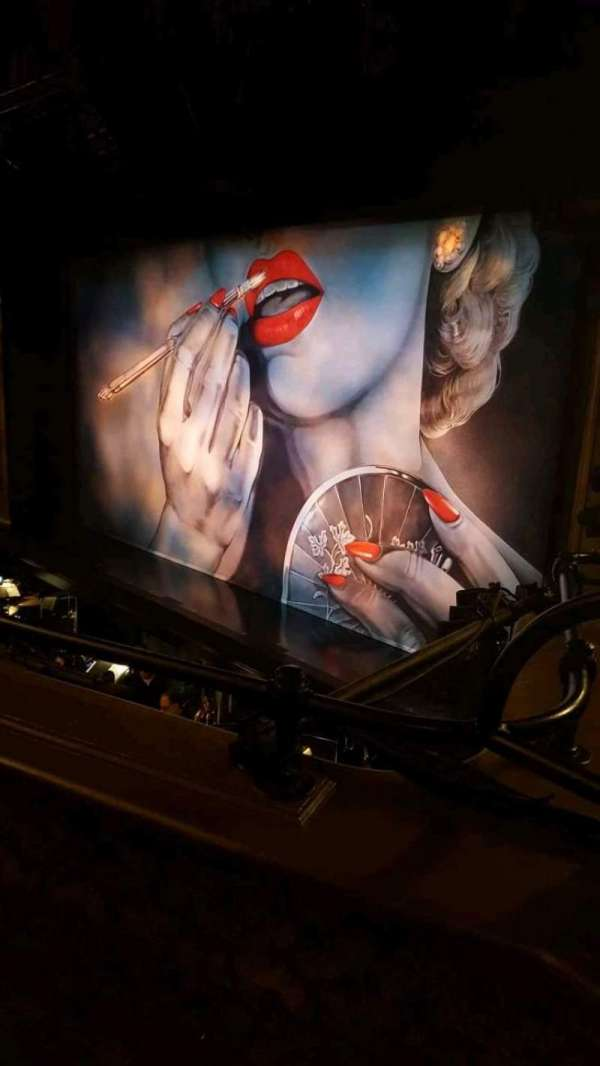 Nederlander Theatre, section: Mezzanine R, row: B, seat: 24