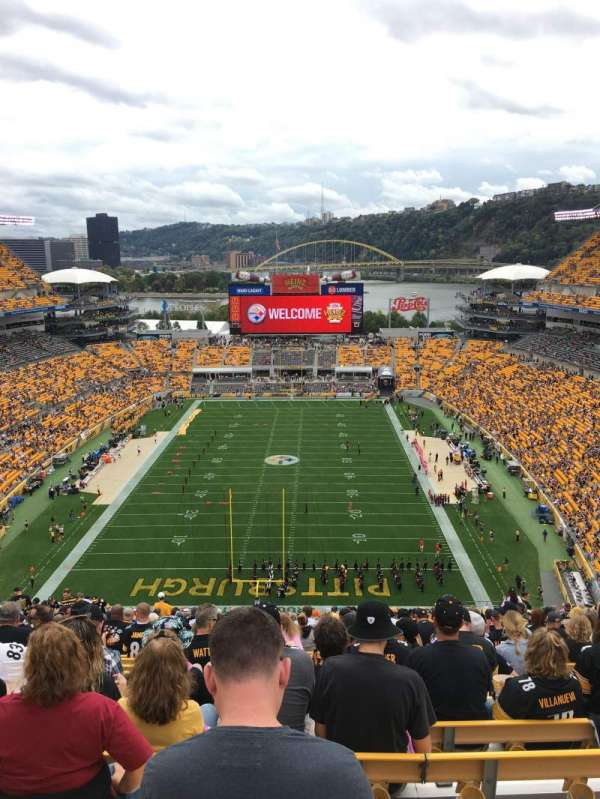 Heinz Field, section: 523, row: JJ, seat: 16