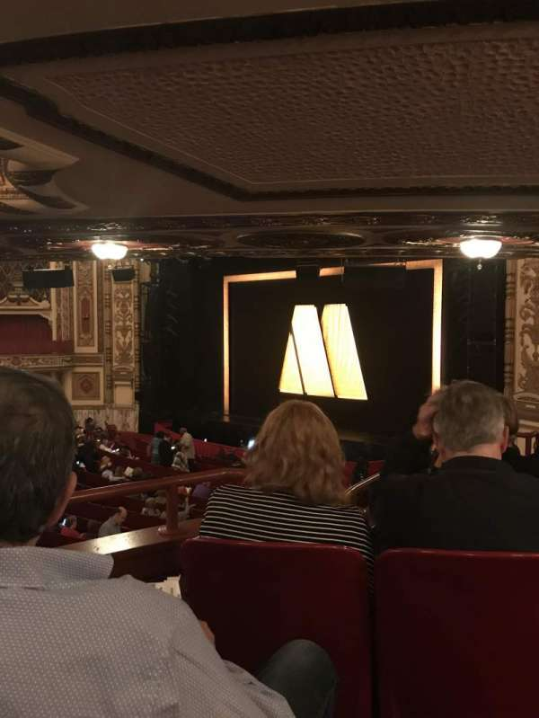 Cadillac Palace Theater, section: Dress Circle FR, row: Kk, seat: 8