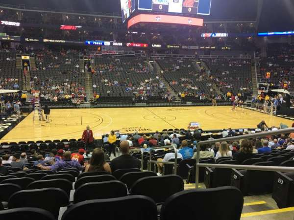 Sprint Center, section: 107, row: 16, seat: 2