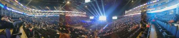 The O2 Arena, section: 108, row: V, seat: 250