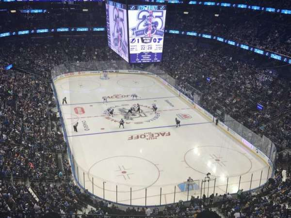 Amalie Arena, section: 310, row: J, seat: 9