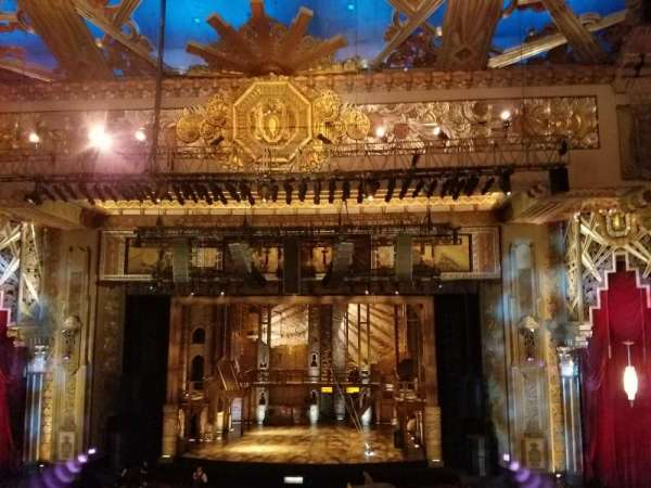 Hollywood Pantages Theatre, section: Mezzanine C, row: E, seat: 101