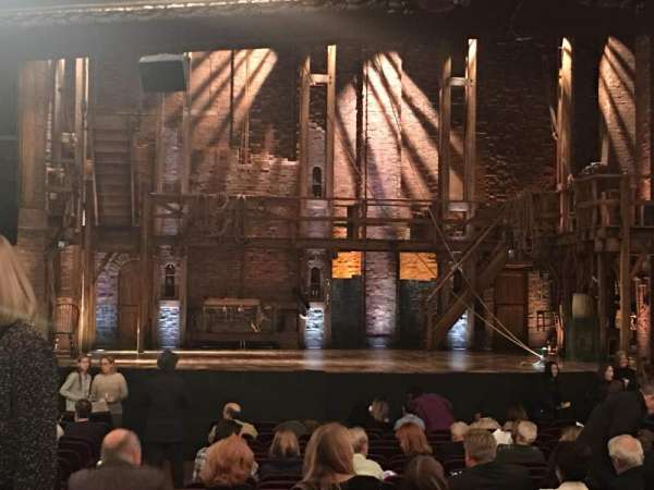 CIBC Theatre, section: Orchestra C, row: X, seat: 107