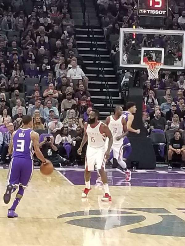 Golden 1 Center, section: 114, row: CCC, seat: 6