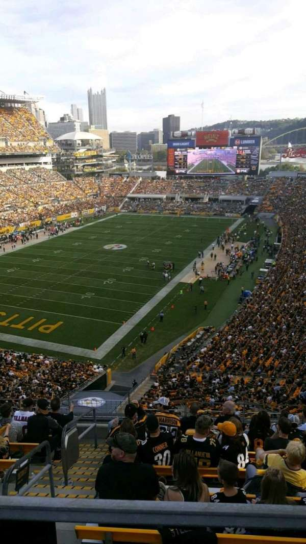 Heinz Field, section: 527, row: H, seat: 1 and 2
