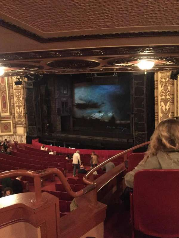 Cadillac Palace Theater, section: Dress Circle FR, row: JJ, seat: 6