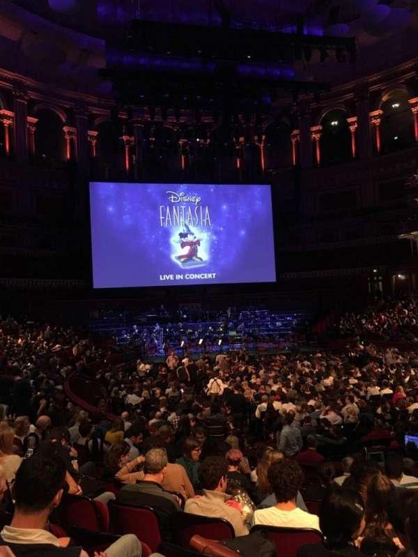 Royal Albert Hall, section: Stalls J, row: 10, seat: 68