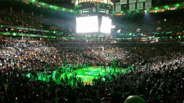 TD Garden, section: Loge 16, row: 22, seat: 1