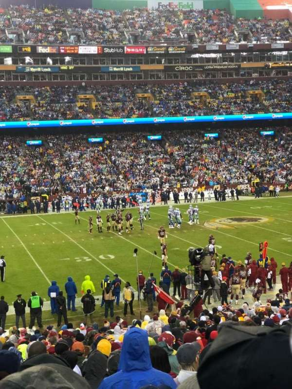 FedEx Field, section: 103, row: 28, seat: 7