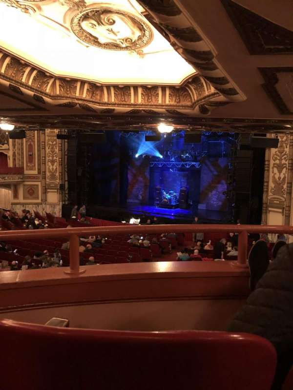Cadillac Palace Theater, section: Dress Circle FR, row: MM, seat: 10