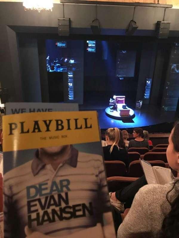 Music Box Theatre, section: Mezzanine C, row: G, seat: 113