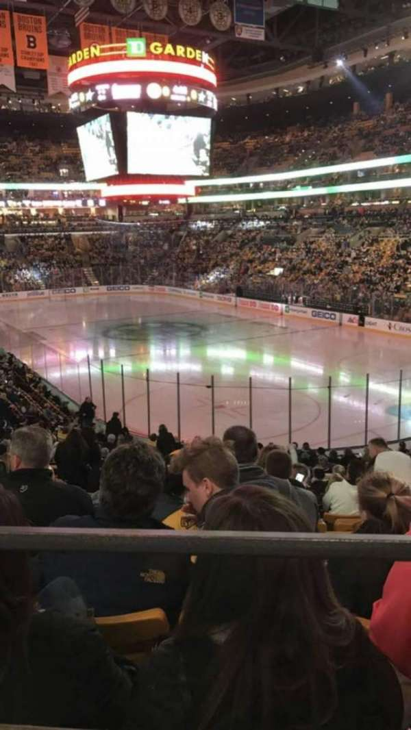 TD Garden, section: Loge 8, row: 24, seat: 15