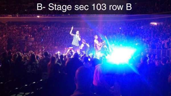 Capital One Arena, section: 104, row: B, seat: 4