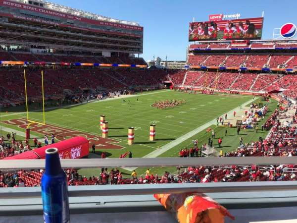Levi's Stadium, section: 225, row: 1, seat: 10