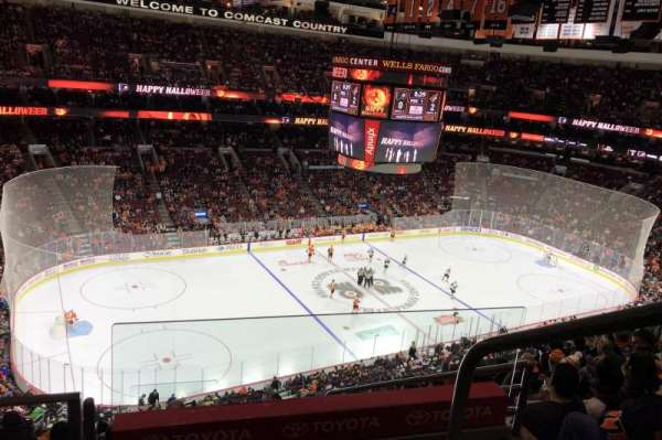 Wells Fargo Center, section: 210A, row: 9, seat: 17