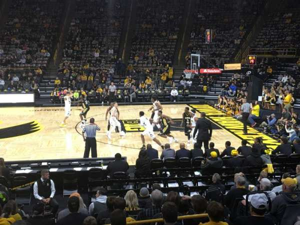 Carver-Hawkeye Arena, section: B, row: 12, seat: 6