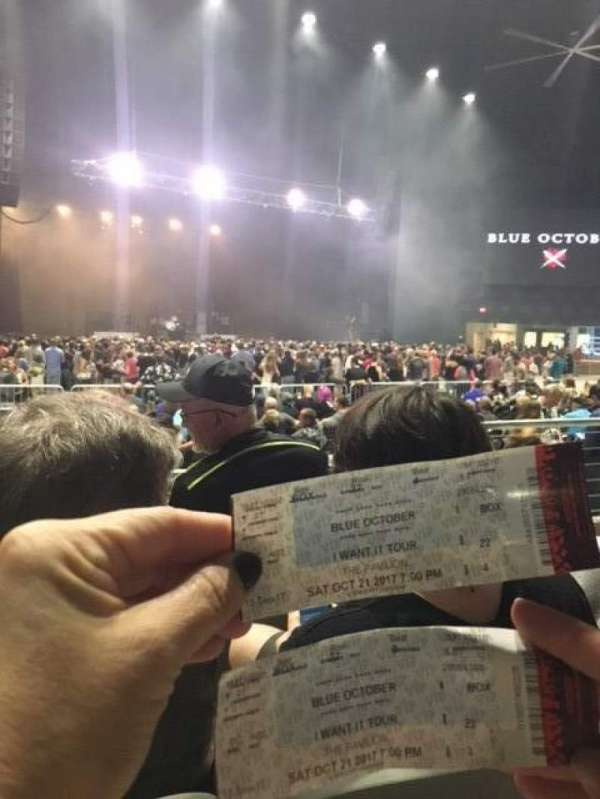 Toyota Music Factory Section Box Row 22 Seat 3