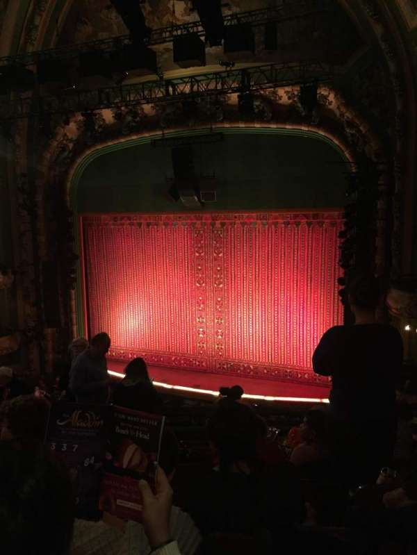 New Amsterdam Theatre, section: Mezzanine R, row: HH, seat: 14
