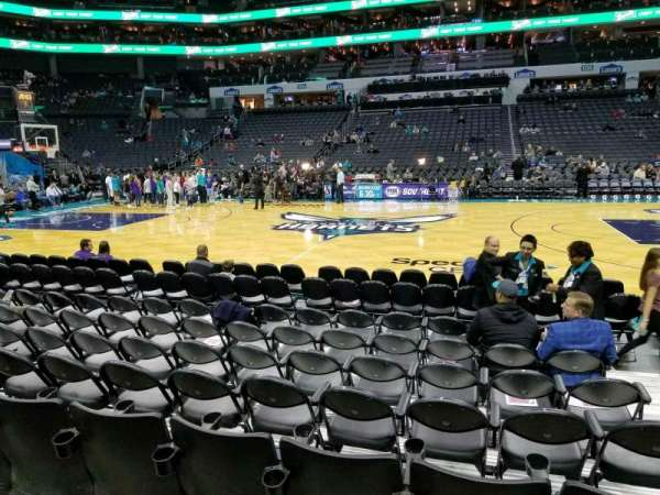 Spectrum Center, section: 114, row: E, seat: 4