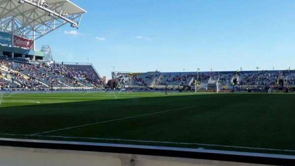 Talen Energy Stadium, section: F14, row: 1, seat: 3