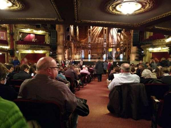 CIBC Theatre, section: Center, row: X, seat: 123
