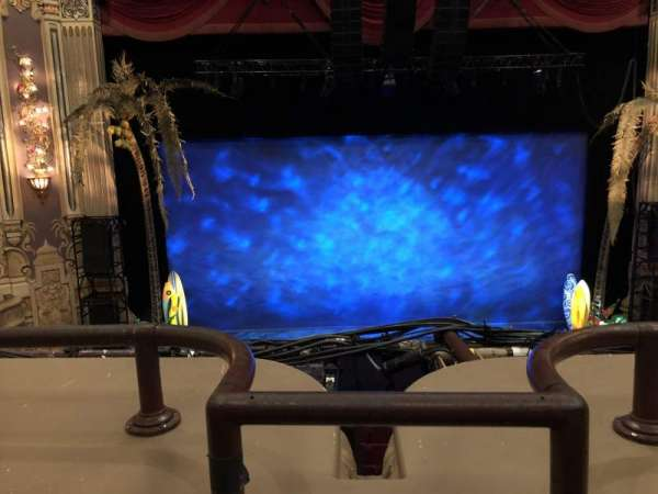 Oriental Theatre, section: Loge C, row: A, seat: 301