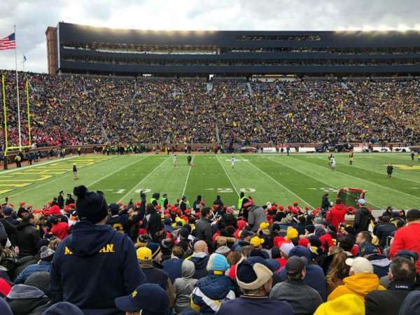 Michigan Stadium, section: 3, row: 17, seat: 3