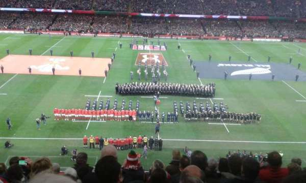 Principality Stadium, section: U9, row: 8, seat: 6