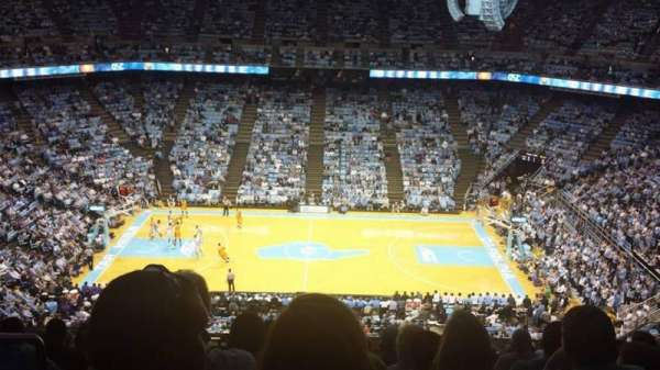 Dean Dome, section: 209, row: Q