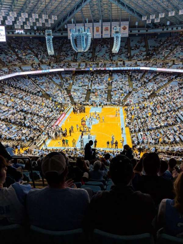Dean E. Smith Center, section: 218, row: N, seat: 12