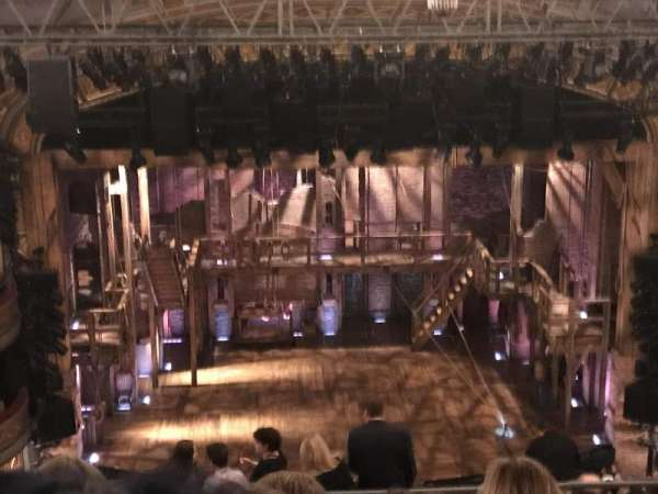 Richard Rodgers Theatre, section: Mezzanine R, row: F, seat: 4