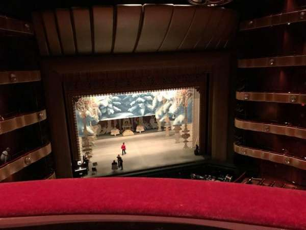 David H. Koch Theater, section: Fourth ring B, row: A, seat: 5
