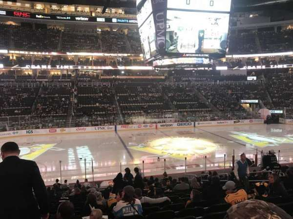PPG Paints Arena, section: 103, row: V, seat: 10