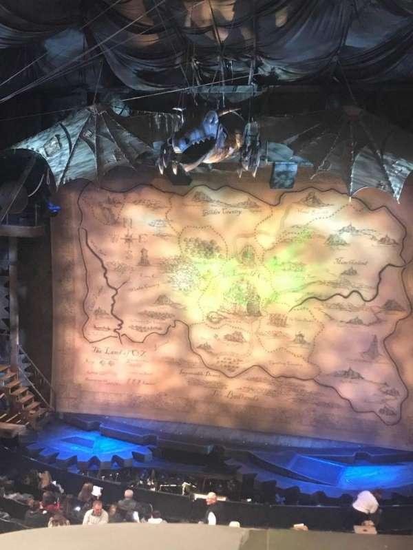 Gershwin Theatre, section: Front Mezzanine C, row: A, seat: 116