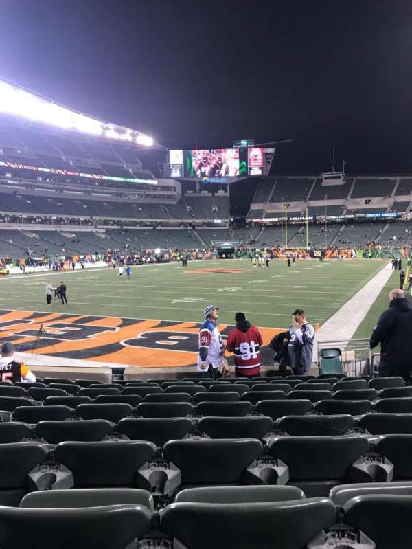 Paul Brown Stadium, section: 150, row: 10, seat: 8