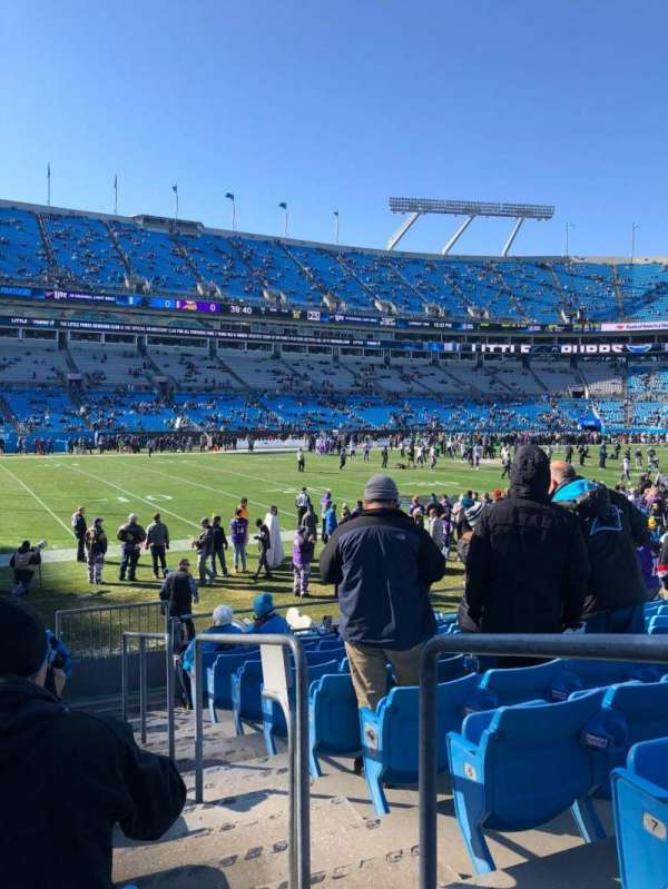 Bank of America Stadium, section: 116, row: 9, seat: 1