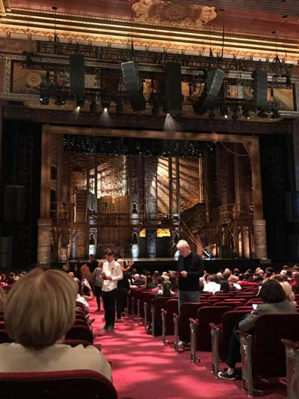 Hollywood Pantages Theatre, section: Center Left Orcastra, row: X, seat: 301