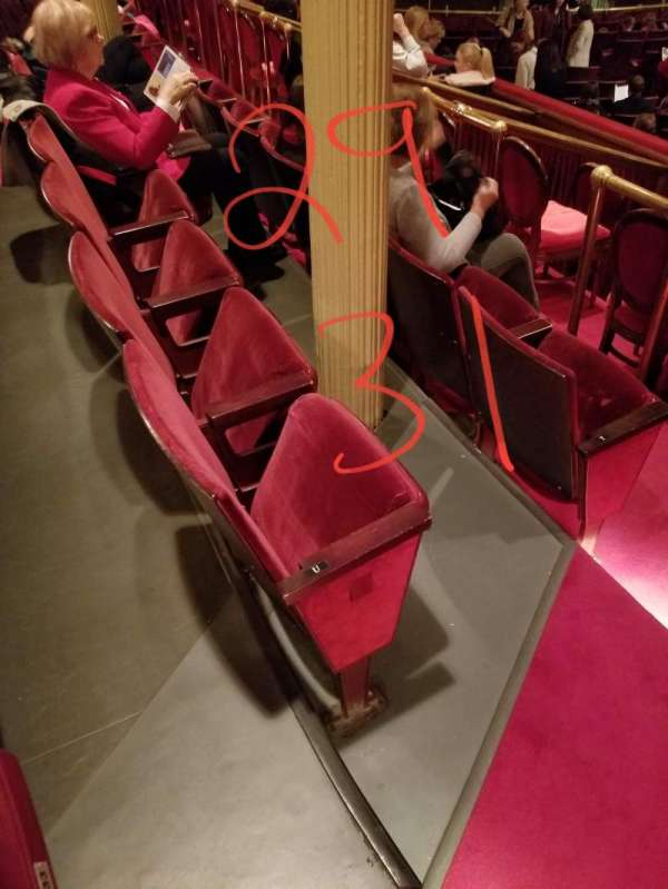 Academy of Music, section: Parquet Circle H, row: U, seat: 29 and 31
