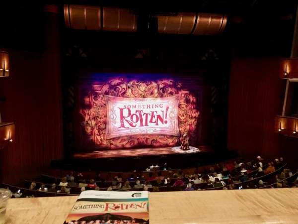 Ahmanson Theatre, section: Mezzanine, row: A, seat: 31