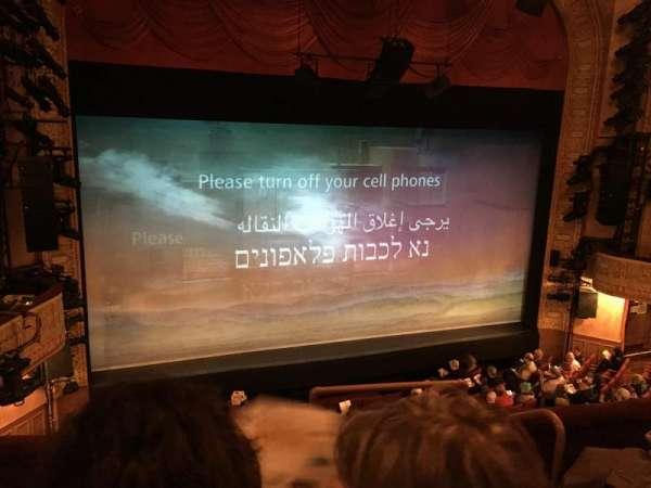 Ethel Barrymore Theatre, section: Front Mezzanine L, row: D, seat: 3
